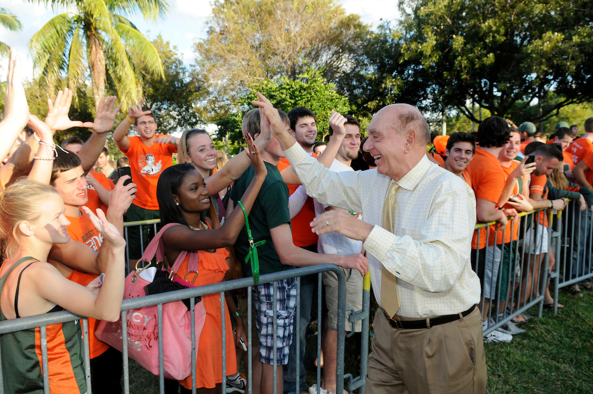 Miami Hurricanes Fans, Dick Vitale