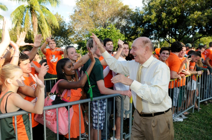 Miami Hurricanes Fans, Dick Vitale